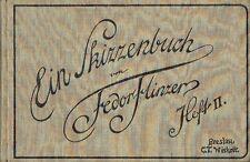 Fedor Flinzer Ein Skizzenbuch Heft II  um 1910 Tier Studien Hasen Papageien