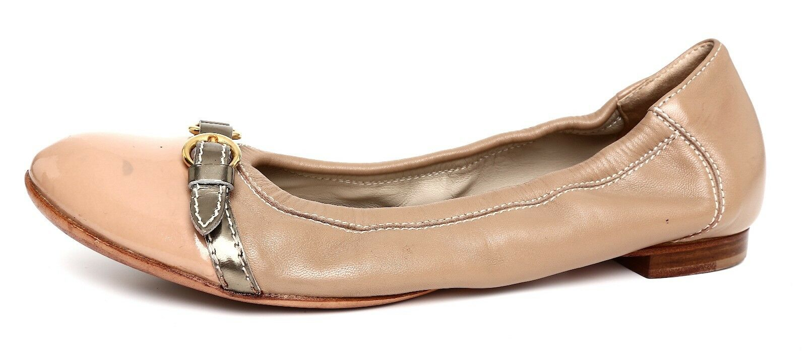 Attilio Giusti Leombruni Women's Slip On Leather Beige Flats Sz 38 EUR 5586