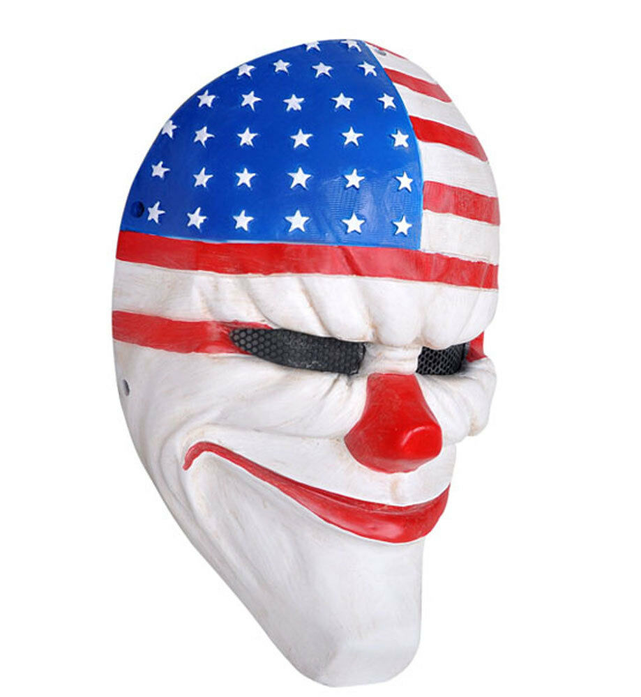 Durable Fiber Resin PROP PAYDAY Dallas Joker Airsoft Paintball Predection Mask