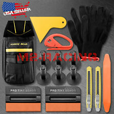 Deluxe Pro Car Wrap Vinyl Tools Kit Scratchfree Squeegee Razor Glove Magnets Bag