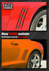 Chevrolet Camaro 2010-2015 Side Mirror Highlight Stripes Decals Choose Color