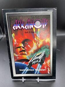 Original Authentic ARKANOID Instruction Manual Booklet SNES Super Nintendo