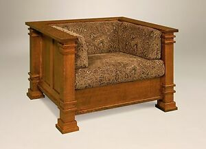 Amish-Mission-Arts-and-Crafts-Diamond-Upholstered-Chair-Solid-Wood-Back-Surround