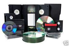 5 X VHS/VHS C/8mm/Hi 8/Digital 8/Mini DV TO DVD DISK - 5 Tapes To DVD Transfer