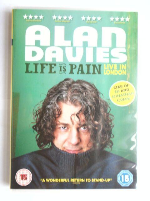 Alan Davies - Life Is Pain (DVD, 2013) New & Sealed  D11
