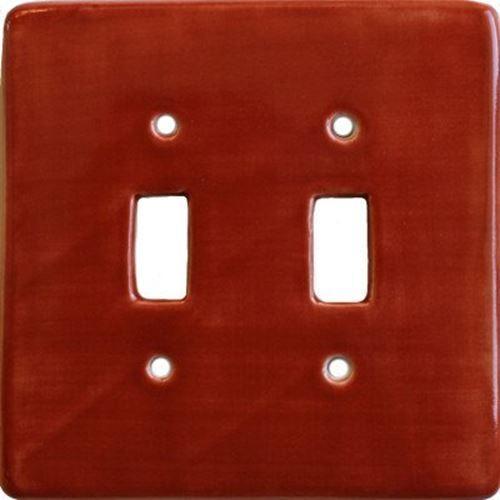 Terracotta Talavera Ceramic Double Toggle Plate