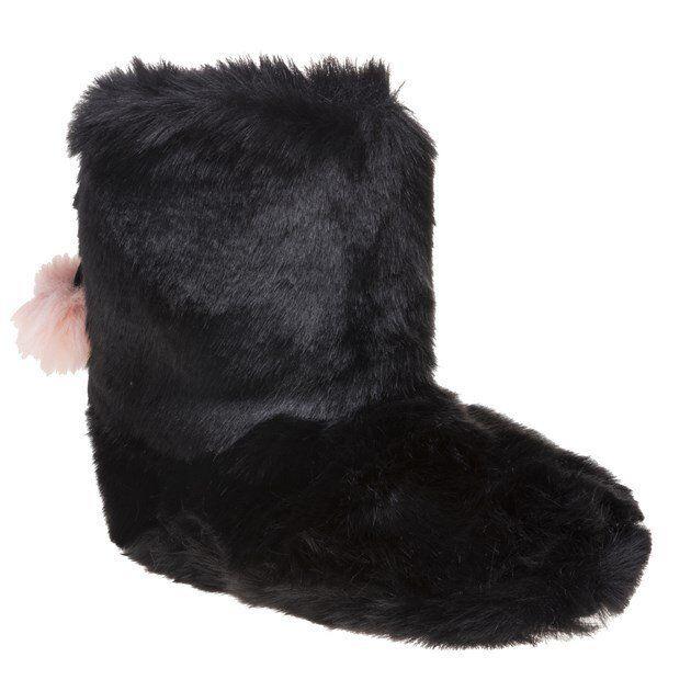 Nouveau Haut TED BAKER Noir Hamond Textile Chaussons à Enfiler Slip on