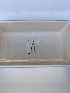 Rae-Dunn-Magenta-Loaf-Pan-EAT-Ceramic-Baking-Dish-Rectangle