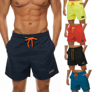 24e99db3ab Men's Beach Wear Surf Board Shorts with Pockets Swimsuit Trunks ...