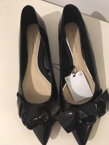 Zara Black Pointed Ballerinas With Bow Size 41,42