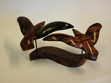 Kamagong Wood Hand Carving Of Flying Seabirds (44)