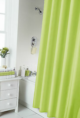 Waterline Plain Shower Curtain Including 12 Matching Rings- 8 Great Colours
