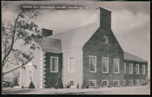 CHESTERTOWN-MD-Washington-College-Hodson-Hall-Window-Curtains-Vtg-Postcard-Old