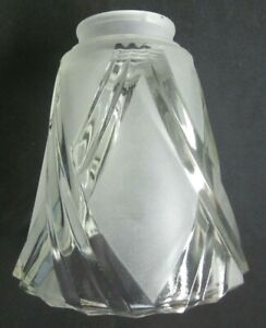 Glass-Lamp-Shade-Fan-Chandelier-Sconce-Satin-Frosted-2-1-8-034-Fitter-Rim-1-Vintage