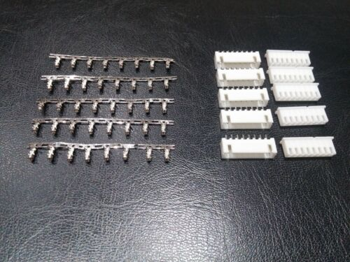 5 PAIRS 8 Pin JST XH PCB Header and Plug Connector 2.54mm XH2.54-8P