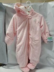NWT-Carter-039-s-Infant-Girl-Pram-Bunting-Snowsuit-Pink-NEW-UNUSED-Cat-Kitten-Kitty