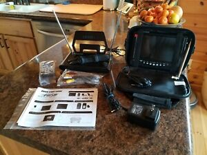 """Digital Prism AC/DC 7"""" Portable LCD TV w/ Case and Remote Control"""