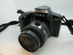 Minolta Maxxum 5000i 35MM SLR Film Camera w/ Zoom AF A Mount minolta lens TESTED