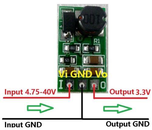 1A DC 5-40V to 3.3V DC-DC Step-Down Buck Converter for Arduino ESP8266 RF Module