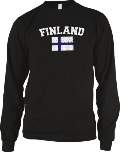 Finland Country Flag Finnish Pride Suomi Football Soccer Long Sleeve Thermal