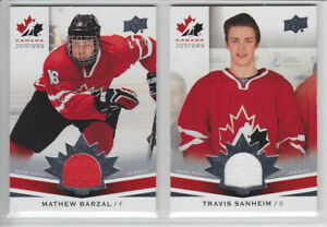 2014-15-UD-CANADA-JUNIORS-TRAVIS-SANHEIM-GAME-JERSEY-169-GAME-USED-Upper-Deck