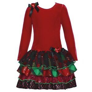 Bonnie Jean Christmas Holiday Special Occasion Red Velvet