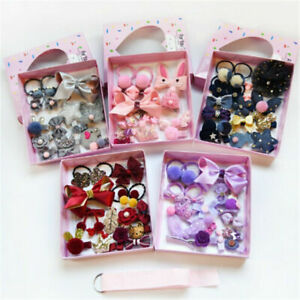 18PCS-Baby-Girls-Head-wear-Elastic-Bowknot-Hair-Clip-Barrette-Hairpin-Xmas-Gifts