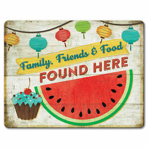 Tempered-Glass-Cutting-Board-8x10-ALL-AMERICAN-COOKOUT-Picnic-Family-Friend-Food