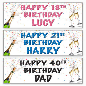 2-Personalised-Birthday-Party-Banners-16th-18th-21st-30th-40th-50th-60th-70th
