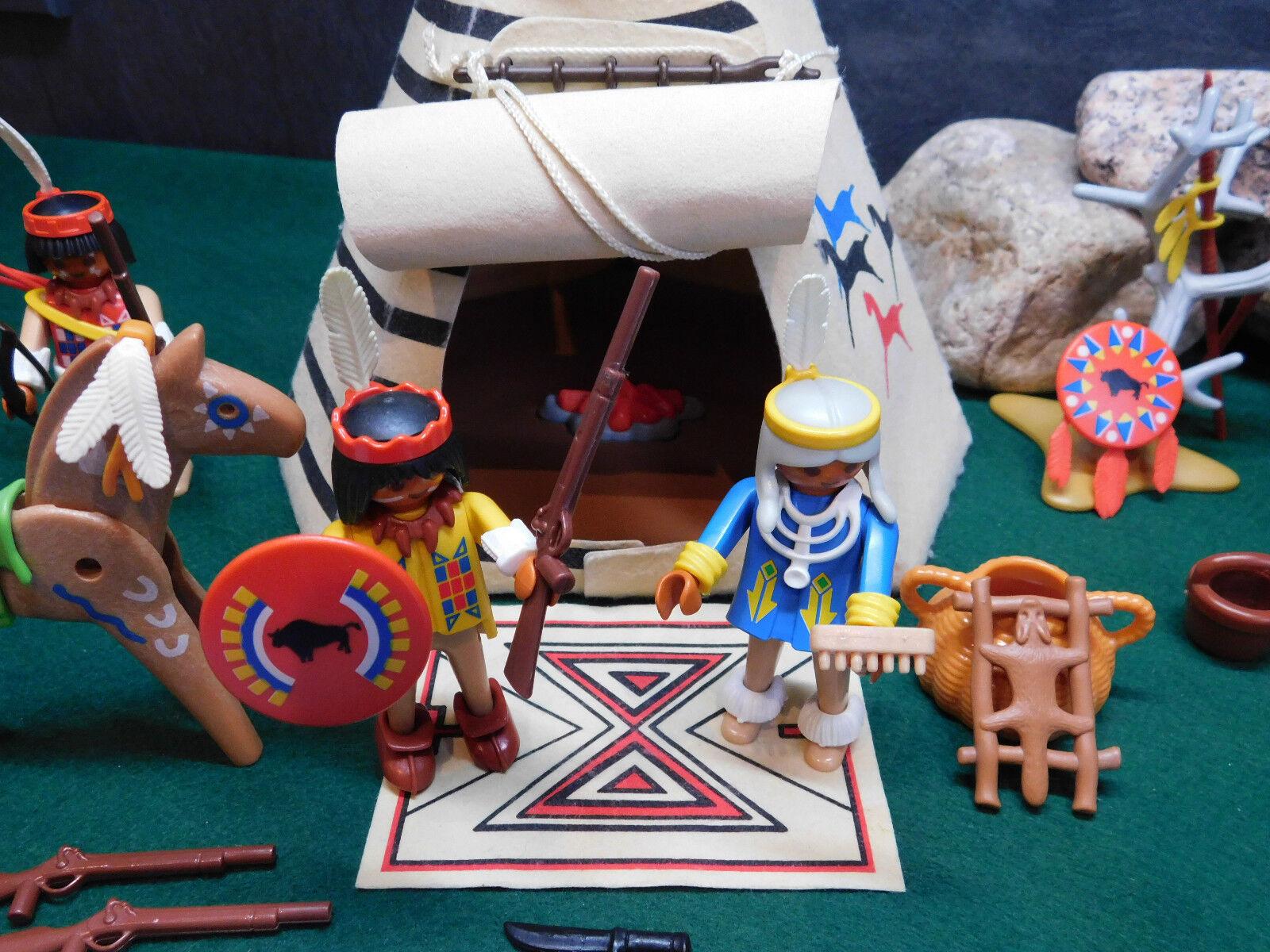 Playmobil Rarität Indianer-Sippe Tipi ähnlich 3733-A 1989 II ohne ohne ohne OVP 840f1f