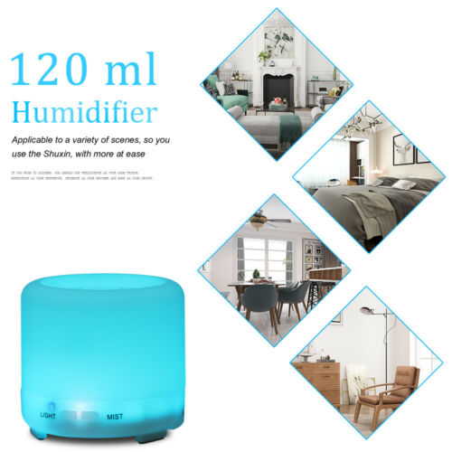 USB LED Ultrasonic Aroma Diffuser Essential Oil Humidifier Aromatherapy Purifier