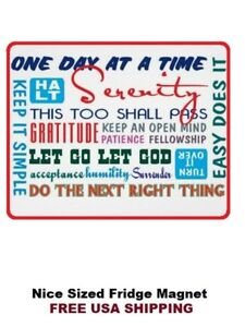Alcoholics Anonymous Recovery Refrigerator Magnet Serenity Prayer