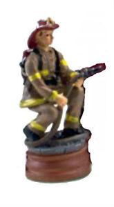 Fire Department Fireman Desk Rubber Stamp Figure Letter Card Seal Crest FD City