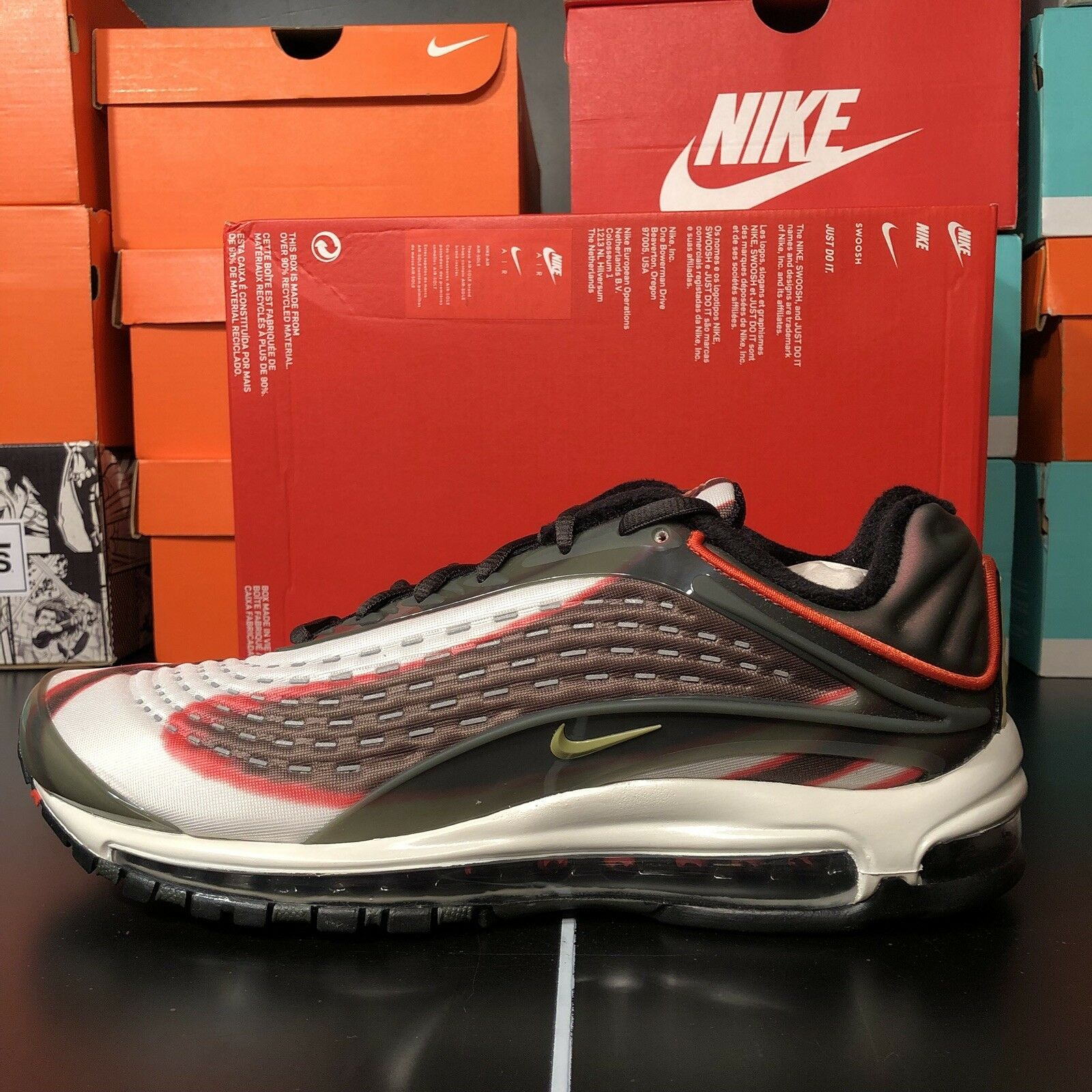 Nike Men's Air Max Deluxe NEW AUTHENTIC Sequoia Camper Green{AJ7831-300}Size10.5