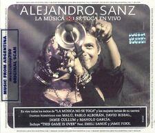 CD + DVD SET ALEJANDRO SANZ LA MUSICA NO SE TOCA EN VIVO SEALED NEW 2013 LIVE