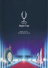 UEFA SUPER CUP PROGRAMME 2010: Inter Milan v Atletico