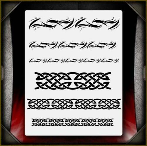 """Celtic Tribal 2"" Airbrush Stencil Template Airsick"
