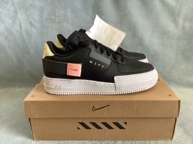 Nike Air Force 1 Type Black Anthracite Bq4793 001 6.5y Woman Size ...