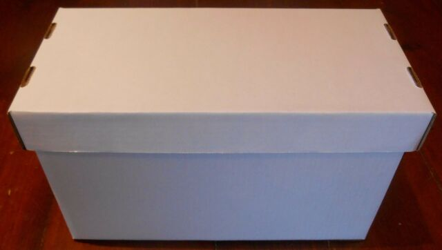 45 RPM White Corrugated Cardboard Storage Boxes w/Lid. Holds 150 records. & 45rpm White Corrugated Cardboard Storage Boxes W/lid. Holds 150 ...