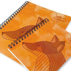 Monster-Cancelleria-Joshua-Verde-A4-amp-A5-Foderato-Notebook-Made-IN-UK-Fox