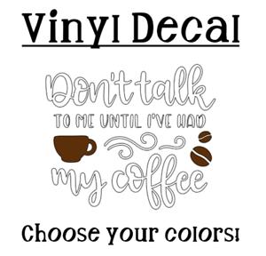 "Tumbler Tumbler Car Mug Coffee 3/"" Vinyl Decal Sticker for Coffee Cup"