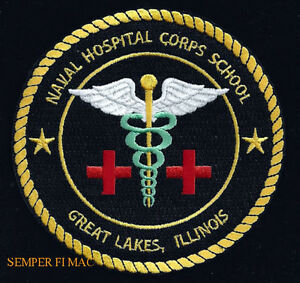 NHCS-GREAT-LAKES-PATCH-US-NAVAL-HOSPITAL-CORPS-SCHOOL-USS-PIN-UP-NAVSTA-US-NAVY