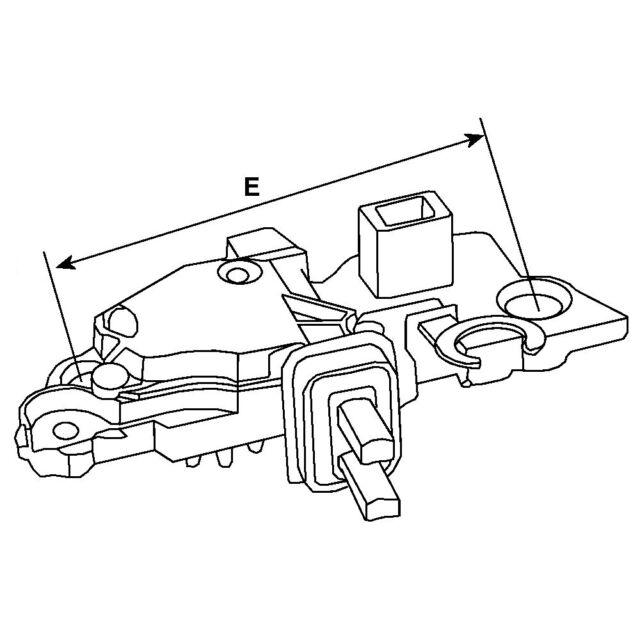 Cargo 12v Alternator Voltage Regulator Delco Remy Opel Vauxhall Car
