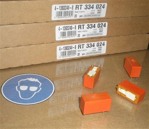 4x Relais Printrelais 24V Volt DC 1S Schließer 16A Schrack RT334024 4-1393240-8