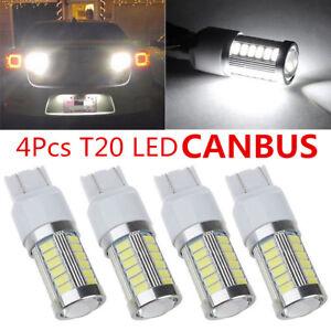 4X-T20-7440-W21W-33SMD-LED-Canbus-Car-Reverse-DRL-Backup-Fog-Brake-Light-White