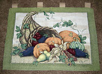 October Weekend Fall Harvest Cornucopia Tapestry Wall Hanging