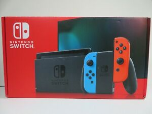 NINTENDO-SWITCH-HAC-001-01-RED-amp-BLUE-JOYCONS-FULL-KIT-BOXED-R-70A