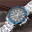 Curren-8023-6-Silver-Blue-Black-Stainless-Steel-Watch thumbnail 2
