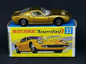 Matchbox-MB33-A5-Superfast-Lamborghini-Miura-P400-Gold-in-Type-G-Box