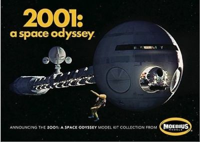 Moebius 2001 Discovery clear acrylic display stands